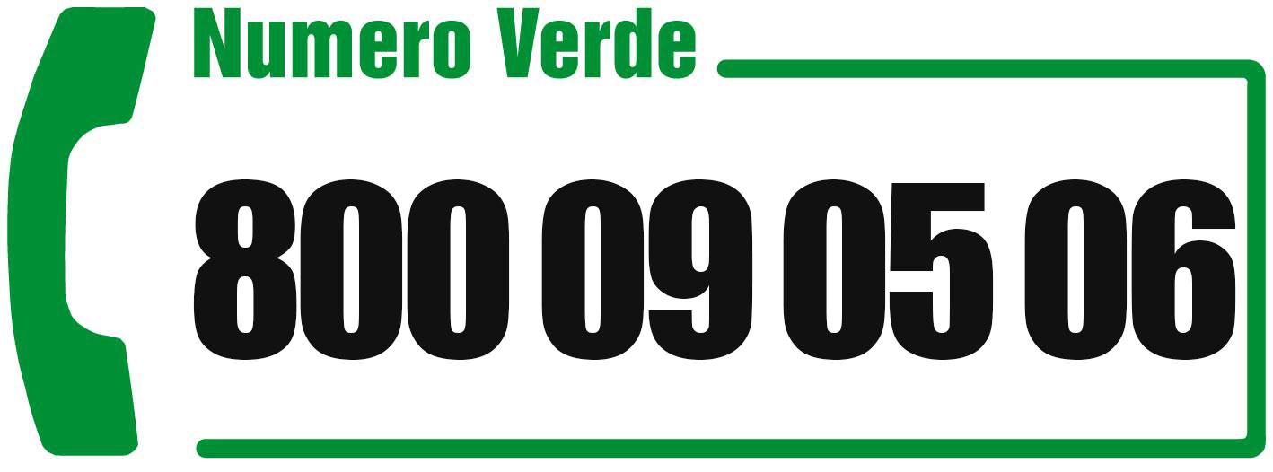 Numero Verde: 800 09 05 06