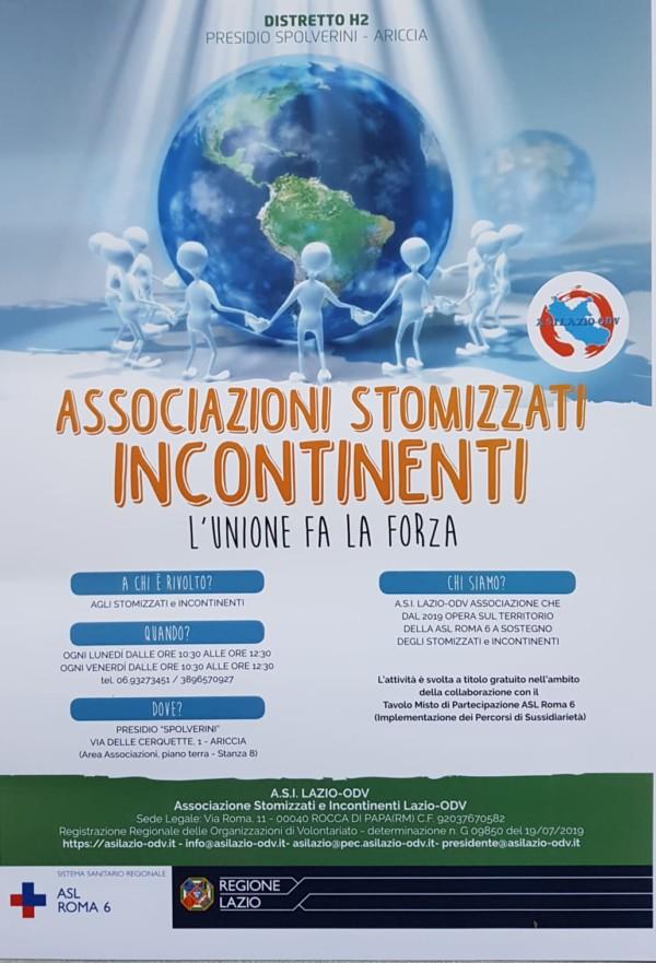 A.S.I. Lazio - nuovo centro di ascolto Presidio Spolverini